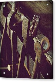 Tools Of The Smith Acrylic Print by Steven Milner