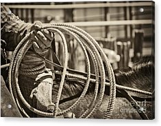 Tools Of The Trade At Work Acrylic Print by Megan Chambers