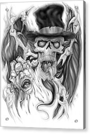 Top Hat Acrylic Print by Mike Royal