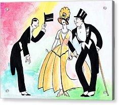 Top Hat Trio Acrylic Print by Mel Thompson