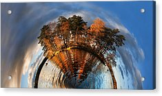 Top Of The World Lake Vuoksa Planet-rise Acrylic Print by Nikki Marie Smith