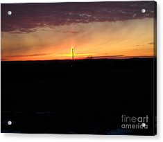 Acrylic Print featuring the photograph Topeka Sunset by Mark McReynolds