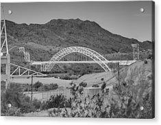 Topock Bridge Acrylic Print by Ricky Barnard