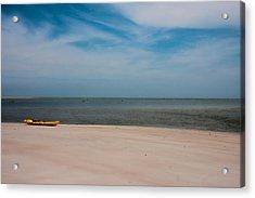 Topsail Kayak Acrylic Print by Betsy Knapp