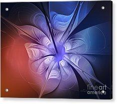 Torn Flower Acrylic Print by Jutta Maria Pusl