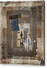 Torn Papers On Wall Number 3 Acrylic Print by Carol Leigh