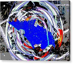 Torn Acrylic Print by Tim Allen