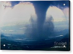 Tornado Destruction In 3d Acrylic Print
