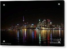 Toronto Skyline At Night Acrylic Print by Lingfai Leung