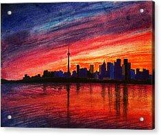 Toronto Skyline Acrylic Print by Fariz Kovalchuk
