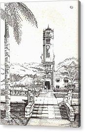 Torre De La Universidad De Puerto Rico Acrylic Print by Juan  Salazar