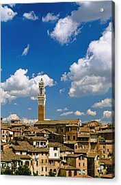 Torre De Mangia And Siena Skyline Acrylic Print by Axiom Photographic