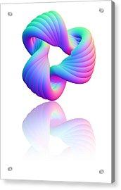 Torus Knot, Computer Artwork Acrylic Print by Pasieka