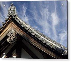 Toshodai-ji Temple Roof Gargoyle - Nara Japan Acrylic Print by Daniel Hagerman