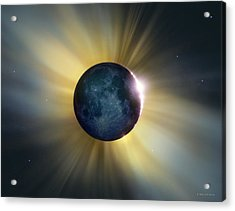 Total Solar Eclipse Acrylic Print by Detlev Van Ravenswaay