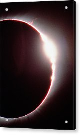 Total Solar Eclipse, Showing A Solar Flare Acrylic Print by Dr Fred Espenak
