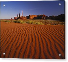 Totem Pole Rocks, Monument Valley Acrylic Print by Brian Lawrence
