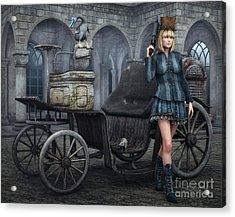 Tough Lady Acrylic Print by Jutta Maria Pusl