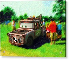 Acrylic Print featuring the photograph Tow Mater Live by Mario Carini
