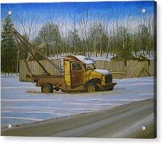 Tow Truck On Burgoyne Ave. Acrylic Print by Mark Haley