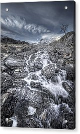 Towards The Cairn Acrylic Print by Andy Astbury