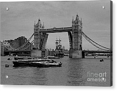 Tower Bridge And The Endeavor Acrylic Print by Aldo Cervato