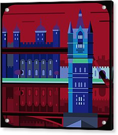 Tower Bridge And The Tower Of London, United Kingdom Acrylic Print by Nigel Sandor