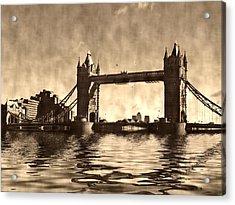 Tower Bridge Acrylic Print by Sharon Lisa Clarke