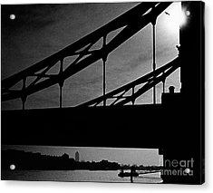 Tower Bridge Silhouette Acrylic Print by Aldo Cervato