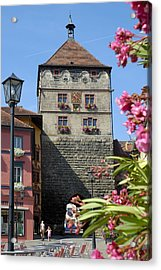 Tower In Old Town Rottweil Germany Acrylic Print by Matthias Hauser