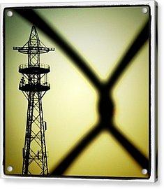 #tower Of #power. #powerline Acrylic Print