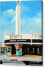 Tower Theater Fresno Acrylic Print