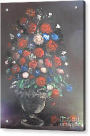 Acrylic Print featuring the painting Towering Bouquet by Laurie L