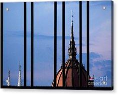 Towers Acrylic Print by Odon Czintos