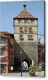 Town Gate Schwarzes Tor In Rottweil Germany Acrylic Print by Matthias Hauser