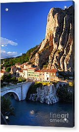 Town Of Sisteron In Provence France Acrylic Print by Elena Elisseeva