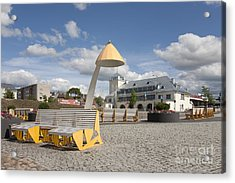 Town Square In Rakvere Acrylic Print by Jaak Nilson
