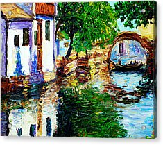 Town With Water Streets Acrylic Print by Nelson