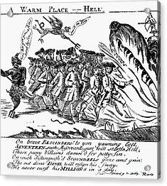 Townsend Act Cartoon, 1768 Acrylic Print by Granger