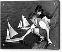 Toy Boats Acrylic Print by Harry Todd