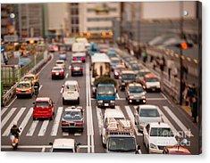 Toy Cars In Tokyo Acrylic Print by Ei Katsumata