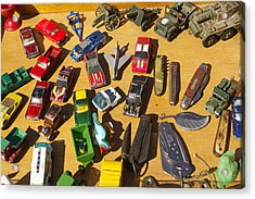 Toy Cars Acrylic Print by Michael Clarke JP