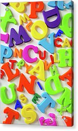 Toy Letters Acrylic Print by Carlos Caetano