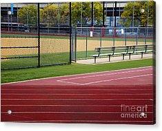 Track And Baseball Diamond Acrylic Print by Inti St. Clair