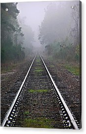 Tracks In Fog Acrylic Print