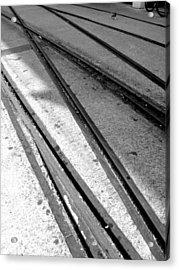 Tracks Acrylic Print by Roberto Alamino