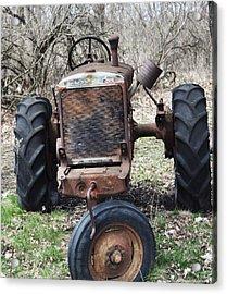 Tractor-1 Acrylic Print by Todd Sherlock