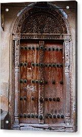 Traditional Carved Door Acrylic Print by Aidan Moran