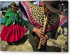 Traditional Dance Of The Bolivian Highlands. Acrylic Print by Eric Bauer