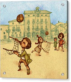 Traditional Game 2 Acrylic Print by Autogiro Illustration